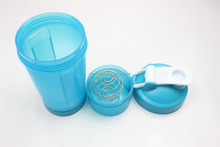 plastic protein shake joyshaker bottle with Storage Compartment