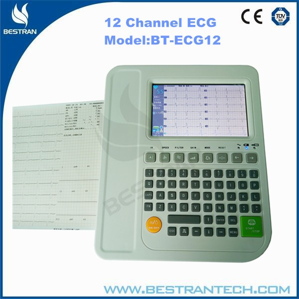 China BT-ECG12 Hospital medical portable 12 Channel ECG machine, ECG Machine for Dogs/Cats/Chickens/Horses/Pigs