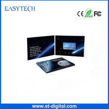 Cheapest 4.3 inch Advertising video name cards,video book,LCD screen video greeting card for business gifts/wedding invitation