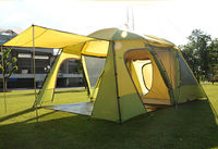 Double layer 5-6 person Family Camping Tent &1 living room and 1 bedroom