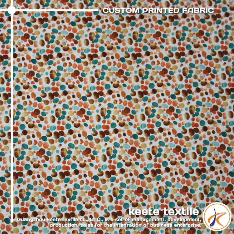 OEM service Dense stone pattern custom cotton cambric printed fabric