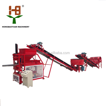 interlocking stabilized soil block machine HBY2-10 Price for clay cement raw material