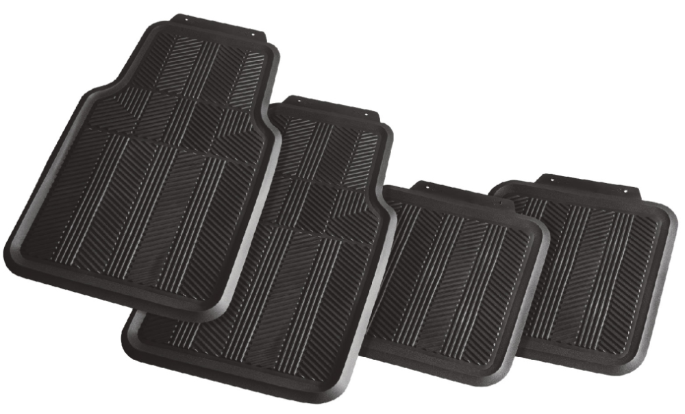 cheap 4pcs set Rubber/ PVC car floor mat