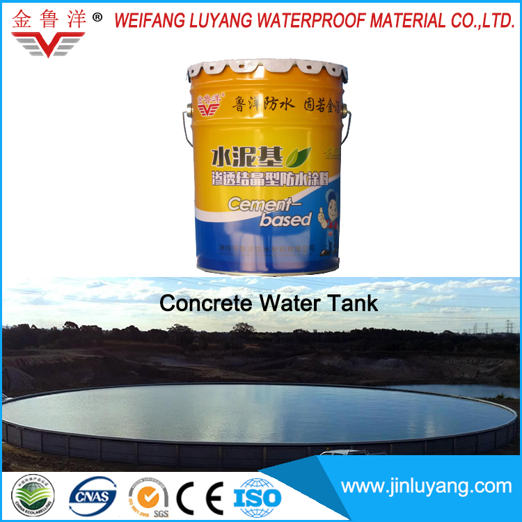 cementitious capillary crystalline waterproof coating for concrete