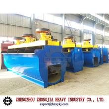 Flotation machine for ore benefication