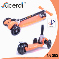 Patent product kids kick scooter, folding scooter, scooter 3 wheel trike