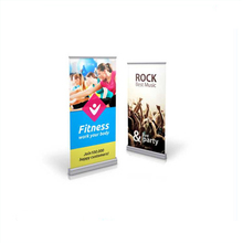 standing scrolling roll up horizontal banner stand