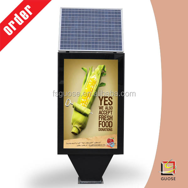 solar power LED advertising scroll display light box