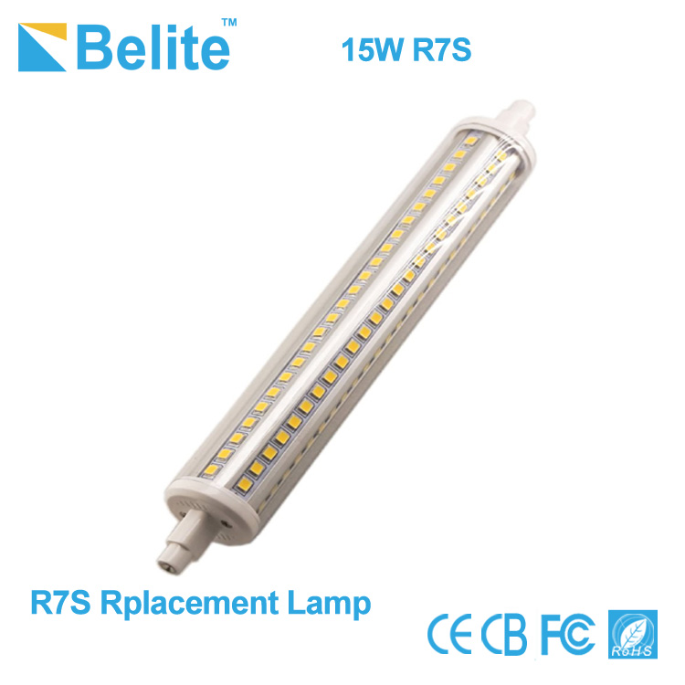 Clear cover 189mm led r7s 15w smd2835 RA>80 r7s led lighting bulb