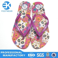 new trend China pu ladies sports slippers design