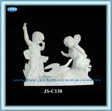 White Marble Nude Angel Life-Size Marble Statue