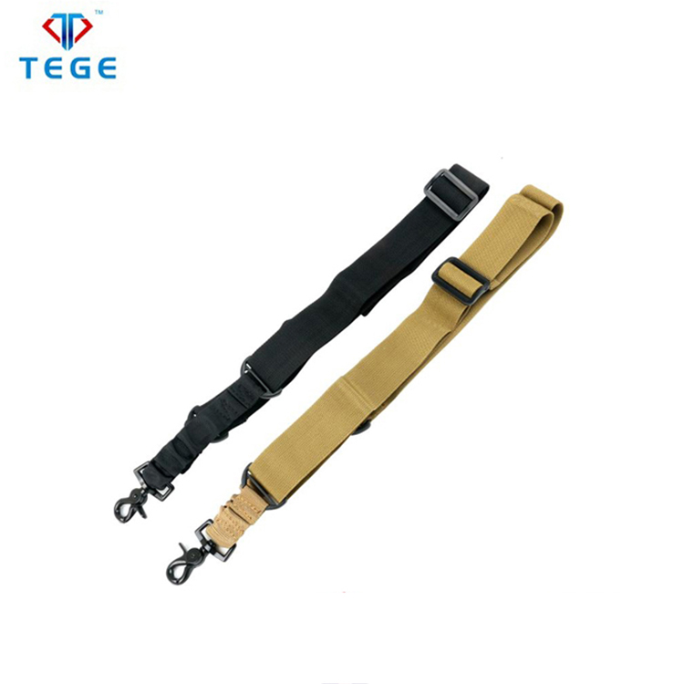 1 Points Rifle Gun Sling Military Traditional Adjustable Slings Cord Shoulder Strap for Outdoor Hunting Shooting Nylon