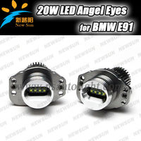 1250LM 40W LED angel eyes bulb for BMW E90 sedan/91 wagon with Xenon headlight Pre-LCI LED marker E90/91 2005-2008