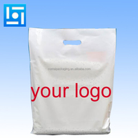 Packaging on Roll HDPE eco friendly plastic shopping bags with logo Thank You custom plastic reusable shopping bags