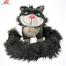 Gray Long Big Tail Plush Stuffed Animal Lucifer Cat