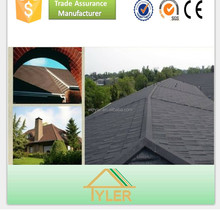 top grade light weight sun stone coated metal roof tile