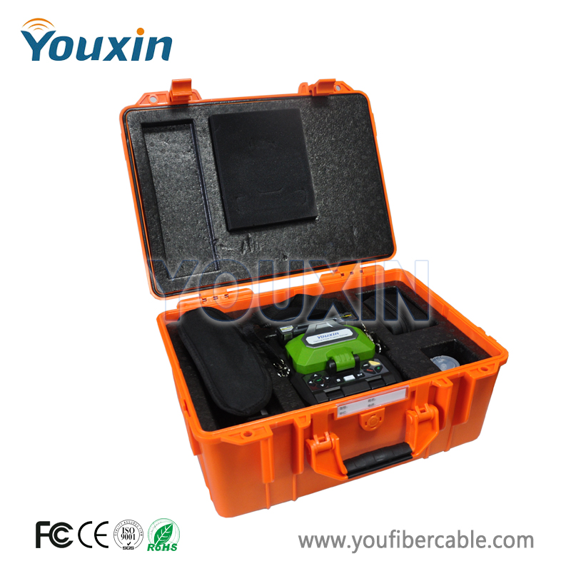 FTTH Fiber Optic Splicing Machine Fusion Splicer AV6481 Digital Fusion Splicer Including Fiber Cleaver Stripper
