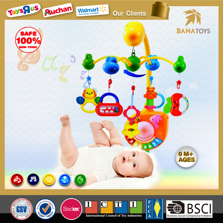 Top selling musical mobile baby bed bell electric baby musical hanging toys