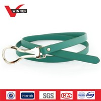 2014 Fancy green girls fake leather belts