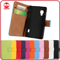 RF Manufacturer Luxury Folio Pouch Pocket Stand Wallet Leather Flip Case for LG Optimus L5 ii E450/E460