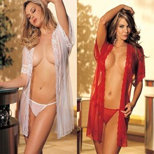 transparent see-through mesh lace bow soft sexy bedroom wear nighty lingerie nighty for women lingerie