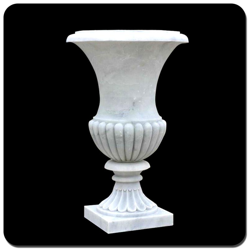 China cheap garden landscaping white marble flower pot