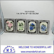 hot sale fashional ceramic flower wall decor