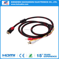 Good quality 3 rca to hdmi cable video and audio AV Cable