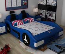 cartoon wood Kids bunk bed race car bedroom furniture