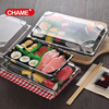 Disposable Plastic Sushi Container With Lid