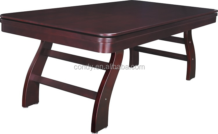 Top quality solid wood competive price foldable dining pool table