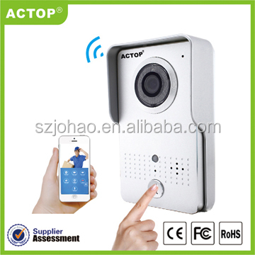 Home Security System Smart Wireless Video Doorbell With HD 720P Resolution PIR Alarm To Smartphone Support POE