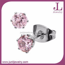 2015 Pink Zircon Fashion Earrings For Women Latest Model Fashion Earrings