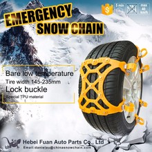 Hottest car chain universal rubber plastic car snow chains