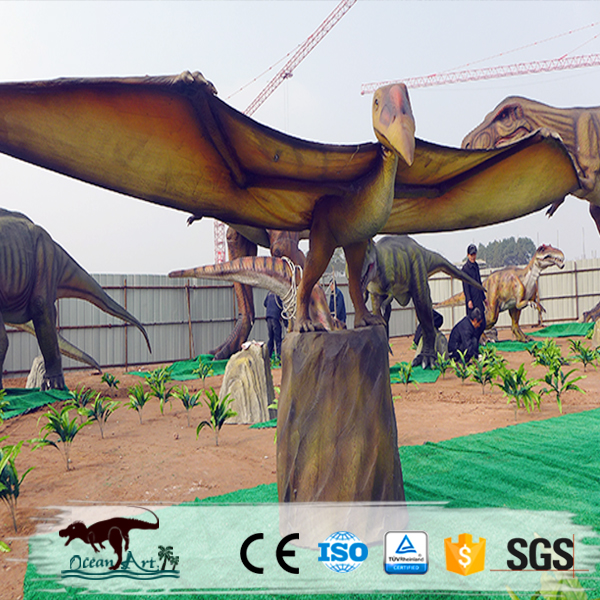 OA3573 Outdoor Liflike Animated Electric Dinosaur Sculpture For Sale