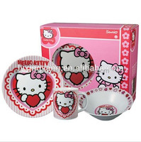 lead free cadmium free dinnerware/fine porcelain dinner set/ kids porcelain dinner set ,hello kitty kids breakfast dinner set