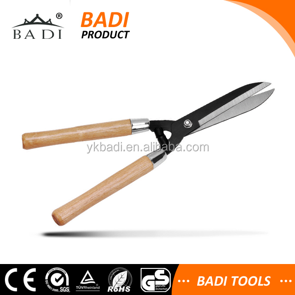 hot sale 10'' wooden handle garden hedge shears factory