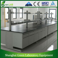 2015 Low Price Good Quality Laboratory Furniture Wood And Steel bench