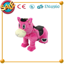 Plush electric motorized ride on pony scooter horse toys on wheels