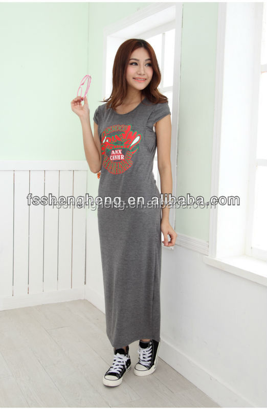 BK035 short sleeve comfortable maternity dress malaysia