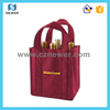 Nice looking pretty tote plain latest price custom print gift wine bag for packing