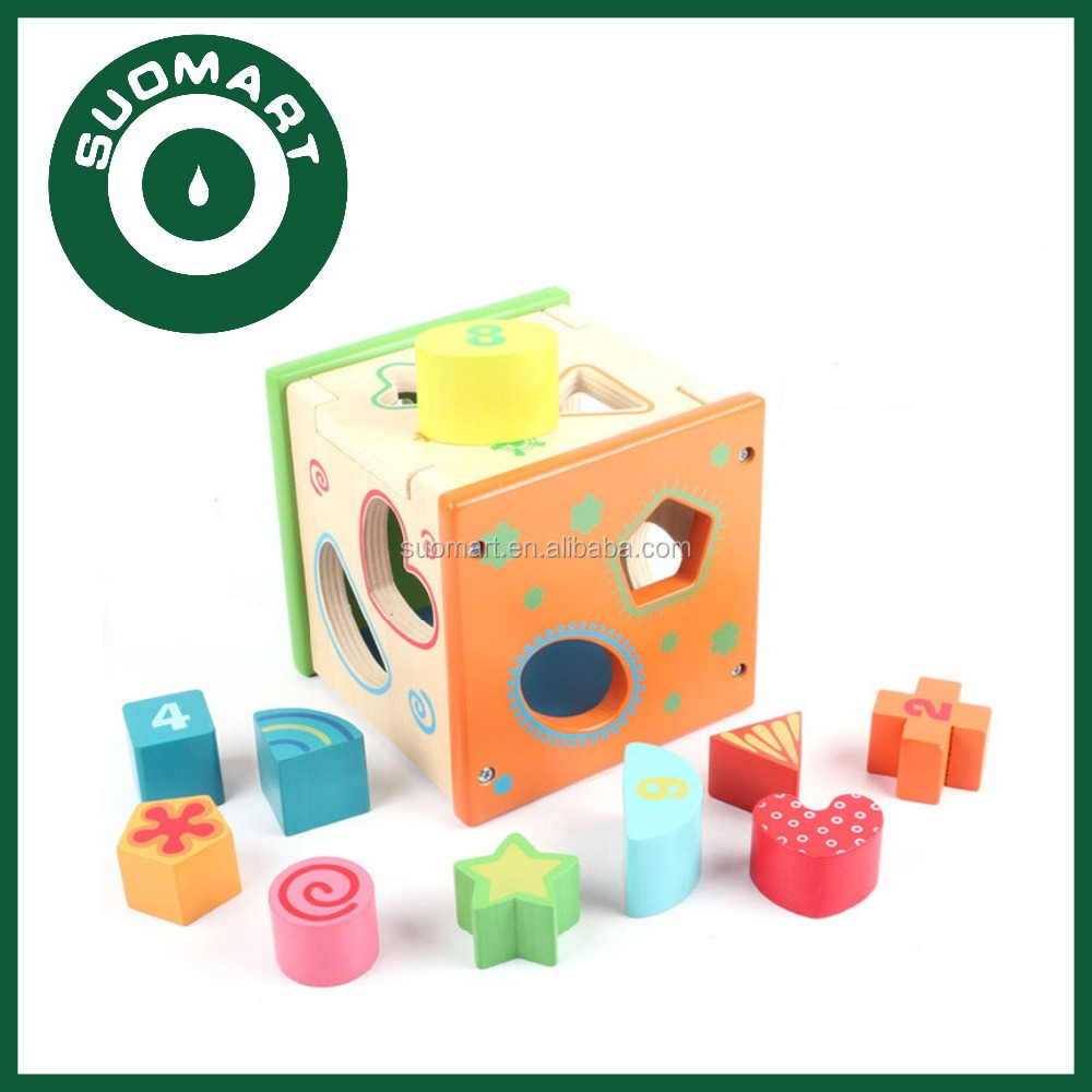 Learning Educational Shape Wooden intelligent Box Toys