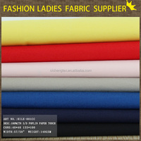 shaoxing textile seasons solid color high quality fabric 100% cotton fabric polin shirt cotton polo shirt making fabric