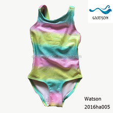 colorful silver printing one piece swimsuit size 0-8y girl sexy swimming wear