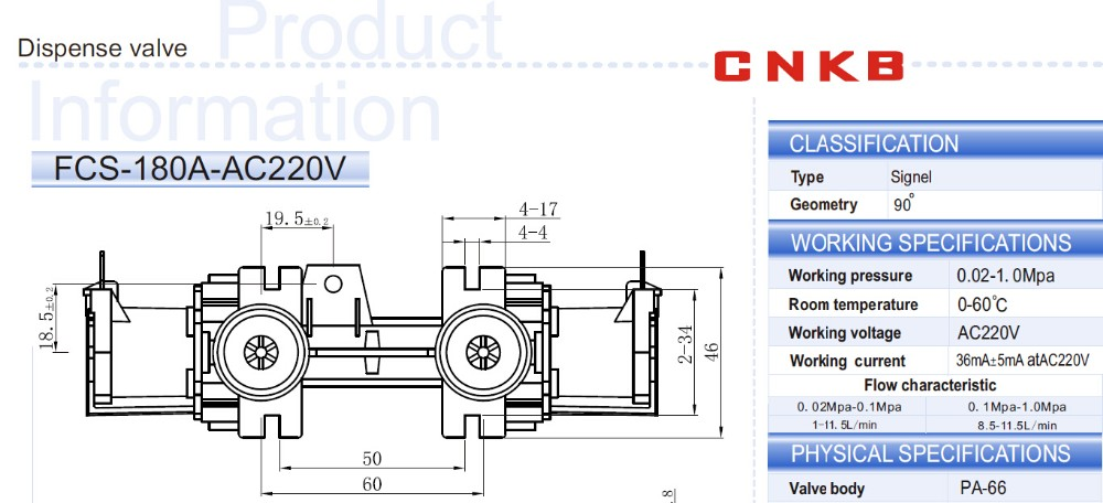 CNKB custom fabrication services twin tub washing machine water solenoid valve