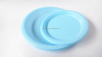 Disposable colorful hot sale plastic PS/ PP plates /themed party dinnerware sets