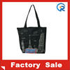 Eco friendly reusable OEM cotton shopping tote bag with zipper