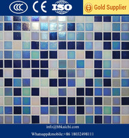 4mm 6mm 8 mm Swimming Pool Crystal Mosaic Glass Tile with factory price