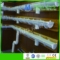 Best price high quality custom white PVC rain gutter Gutter Joiner