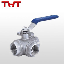 stainless steel 3 way tri clamp rubber inflation ball valve / 3 way motorized valve
